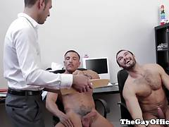 Office hunks assfucking after hours