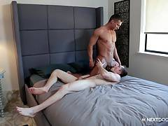 NextDoorBuddies Markie More Ass Fucked By Muscular Jock