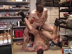Dimitri cant resist stepbrothers cock
