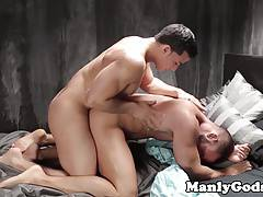 Ripped stud assfucking hunk doggystyle