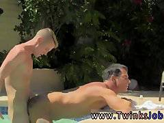 Man getting ass fucked Daddy Poolside Prick