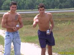 Rudy and Maxim in a summer scene