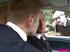 Uniformed brit assfucking tight muscle butt
