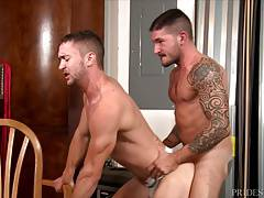 High Performance Men Tied And Fucked In The Garage