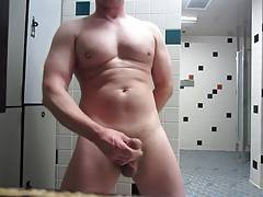 Jacking Off In Gym Shower
