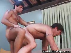 Hunky Latino Hombres Ass Fucking