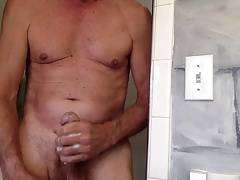 totally naked in the shower, cumming for you