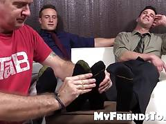 Hot studs Cole and Kenny love to have their feet worshipped