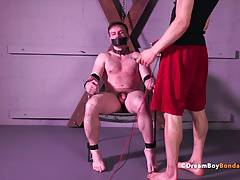 Doug Acre Muscle Stud Shocked Big Cock Electrocution BDSM