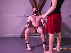 Doug Acre Muscle Stud Shocked Big Cock Electrocution BDSM