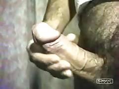 Stroking big cock