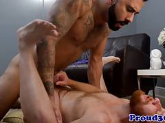 Redhead stud assfucked by hunk