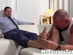 Well dressed Chance loves foot worship from Dev Michaels