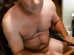 Handsome daddy blue eyes cumming