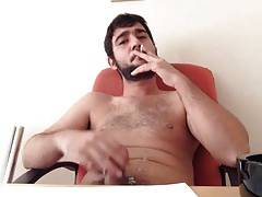 Stroking while smoking