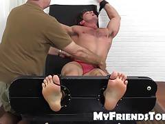 Sexy hunk Aspen is super ticklish
