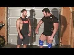 Tony Laron Wrestling gay muscle hunks