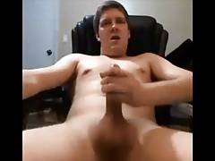 Hairless dude having a mass with his cum