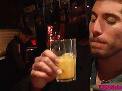 Uk jock assfucked and facialed in bar