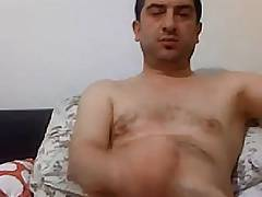 Very handsome daddy stroking and cumming twice