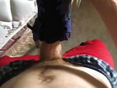 Fucking my Nike Hi tops