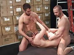 Horny Bareback Session 08 - Breed me in Storeroom