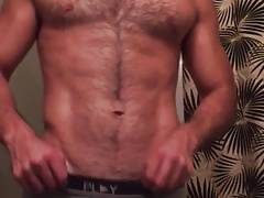 White guy teasing in the bathroom (No cum)