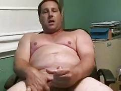 Handsome daddy cumming