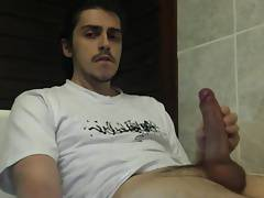 Wanking, selfsucking and getting cum load in mouth
