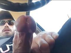 Horny hunks in car 19