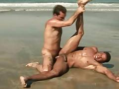 Hunk Latino Gays Intimate Outdoor Sex