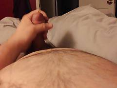 POV beardy boy cumming hard and LOUD
