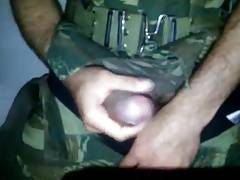 Militar na punheta