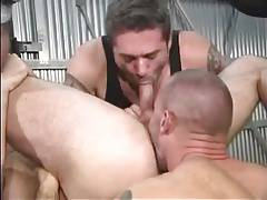Hot Hunks Threesome