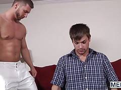 Johnny slides his cock into Rod Pederson drilling his hole