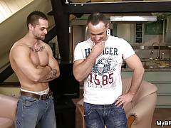 She finds out his muscle buddy is gay!