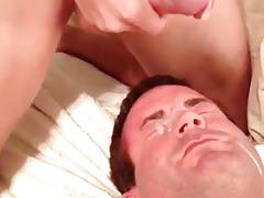 Cumming on dads face