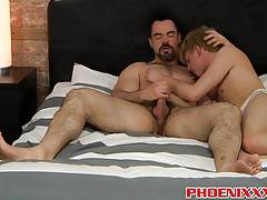 Adorable hunk Dolan Wolf bangs cute and sexy twink Cameron