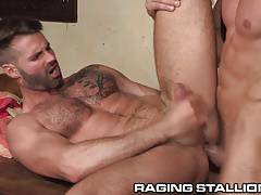 RagingStallion Latino Big Brother Star Fucks Ass