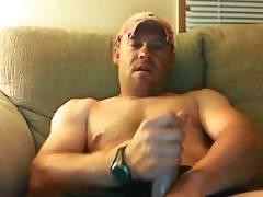 Muscular redneck stroking hard