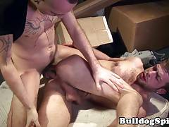 Rimming alternative hunk pounding bottoms ass