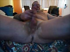 jerking my cock after a hard day at work