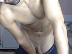 Turkish Gay hunk Playing hard with his cock - Xarabcam