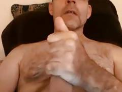 Very hot daddy cumming hard
