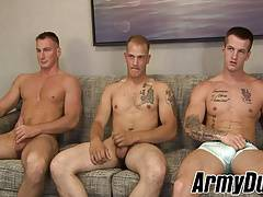 Handsome soldiers barebacking and getting raw doggystyle