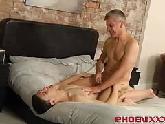 Horny older dude loves to take cute twinks hard dicks