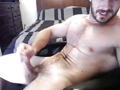 Hairy bear daddy cumshot