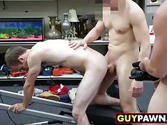Sexy fitness trainer gets down on his knees and gets fucked