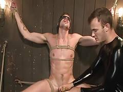 bondage and handjob