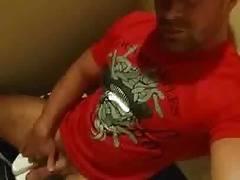 showing his dick in bathroom